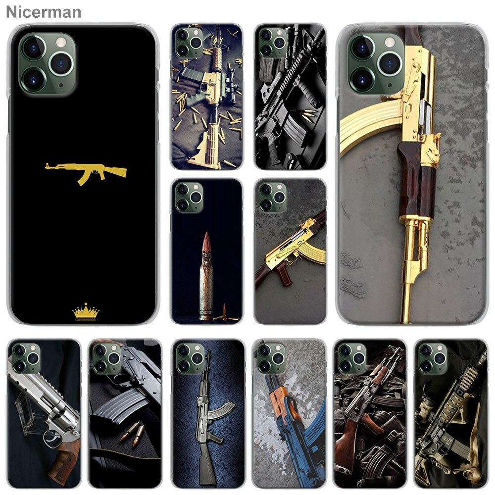 AK47 Pistola Proiettili di Pistola Casse Del Telefono per il iPhone di Apple 11 12 Pro Max X XR XS MAX SE 2020 7 8 6 6s Plus Duro Della Copertura ...