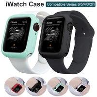 Para el caso de Apple Watch 44mm 40mm, 42mm, 38mm parachoques Protector de pantalla cero a prueba de golpes a prueba accesorios iwatch Serie 6 iPhone 5 4 3 2