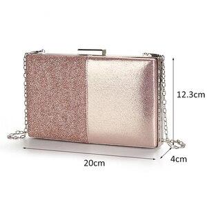 Image 2 - Womens Evening Clutch Bag Pink Clutch Purse and Handbag Patchwork Design Leather Women Bag Wedding Party Bag ZD1178