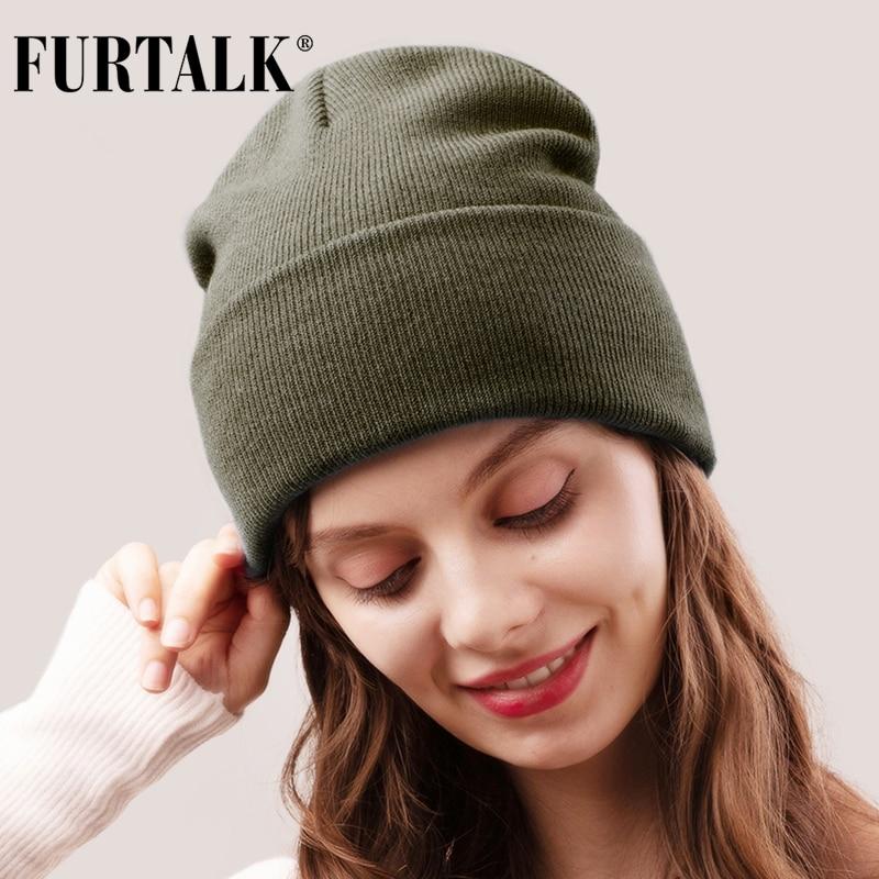 FURTALK Winter Hats for Women Men Knitted Beanie Hat Cap for Girls Female and Male Skullies Couples Stocking Hats Cap 1