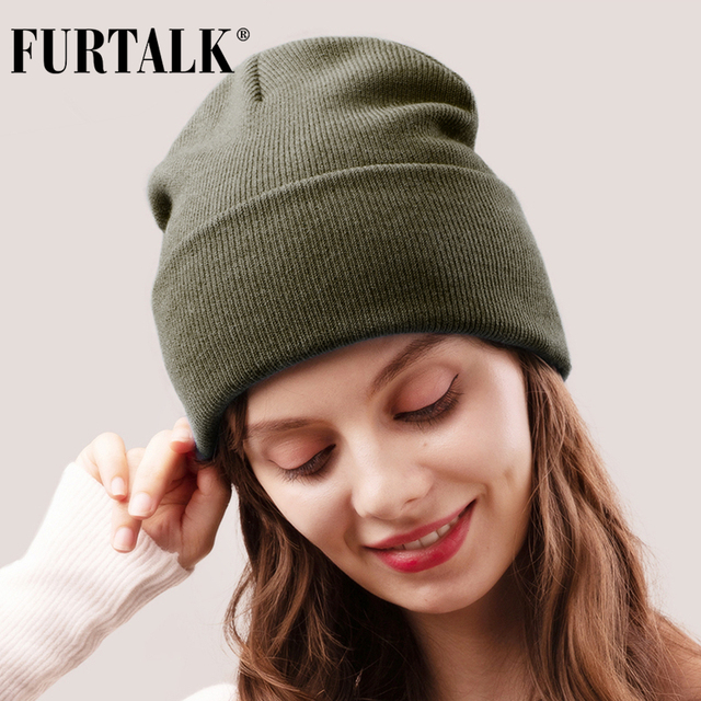 FURTALK Winter Hats for Women Men Knitted Beanie Hat Cap for Girls Female and Male Skullies Couples Stocking Hats Cap 1