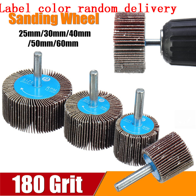 180 Grit 25/30/40/50 Sanding Flap Wheel Polishing Grinding Accessories Tool Disc For Dremel Rotary Tool