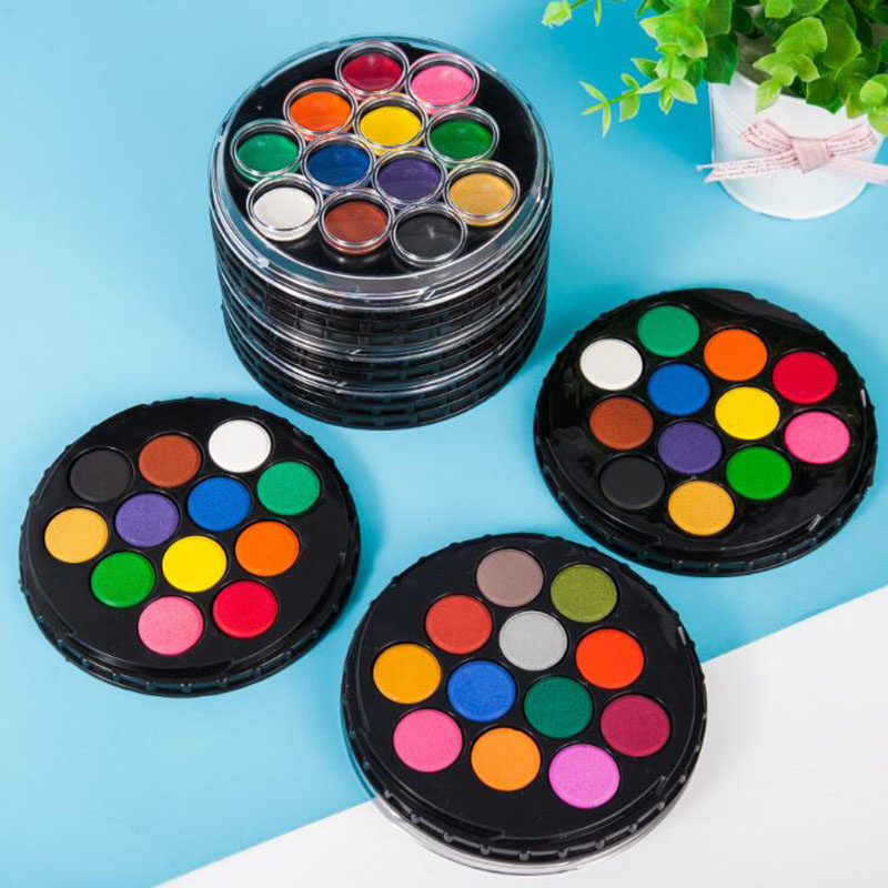 High Quality Solid Watercolor Paint Set Gouache Powder Art Solid Water Color Portable Water School Art Stationery