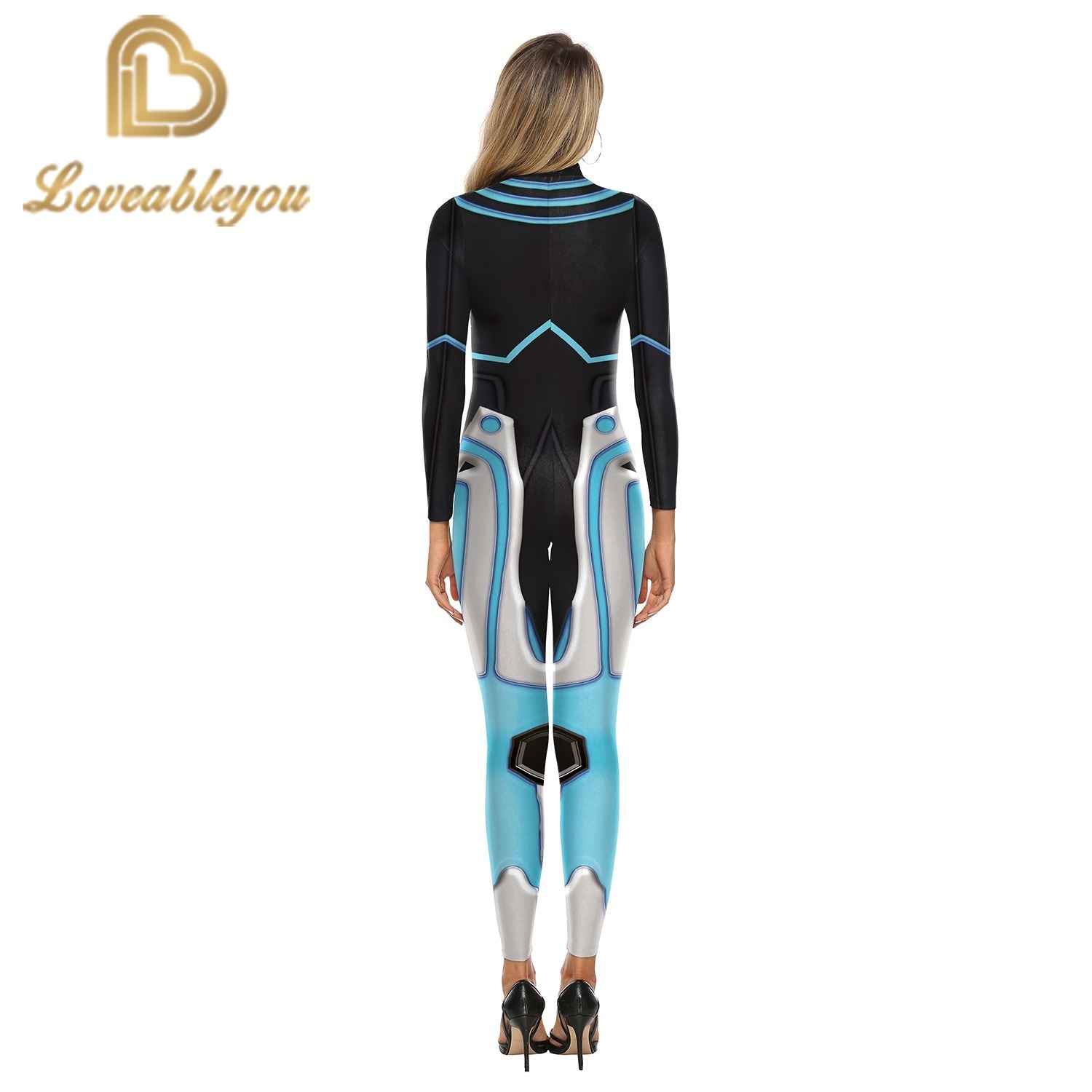 Hot Sale 2019 New Fashion Gaming Cosplay Costume 3D Printed Bodysuit for Women Party Cospaly Bodysuit Sexy Jumpsuits 2