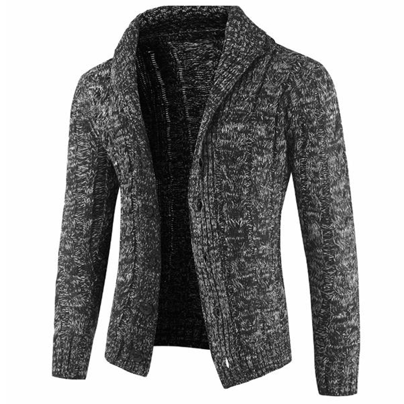 High Street Fashion Mens Sweater Coats Thick Wool Sweatercoats European Style Man Sweaters Coat Knitted Wool Cardigan 2020 A388