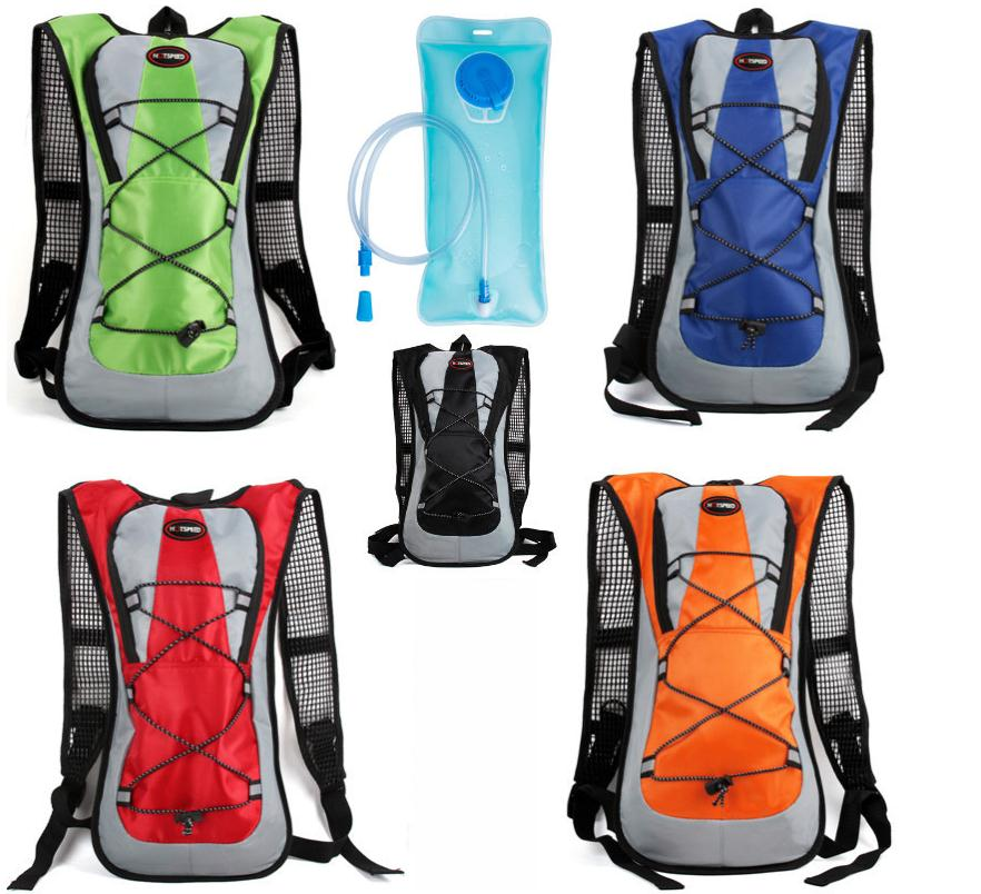 2020 Popular Water Bag Hydration Backpack with 2L Foldable Water Bottle Soft Flask For Women Men Cycling Camping Dropshipping|Water Bags| |  - title=