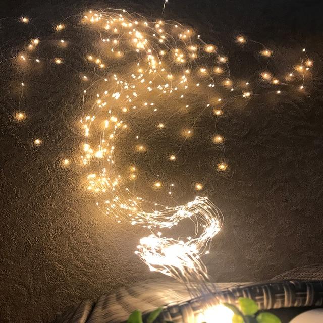 100/200/300/600LED fil de cuivre vigne lumière chaîne cascade lumière noël branche lumière pour jardin extérieur fête arbre décoration