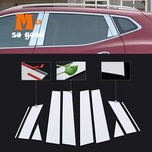 цена на 2014 2015 2016 2017 2018 for Nissan Qashqai J11 Stainless Steel Exterior Car Window Pillar Post Covers Trim Auto Accessories