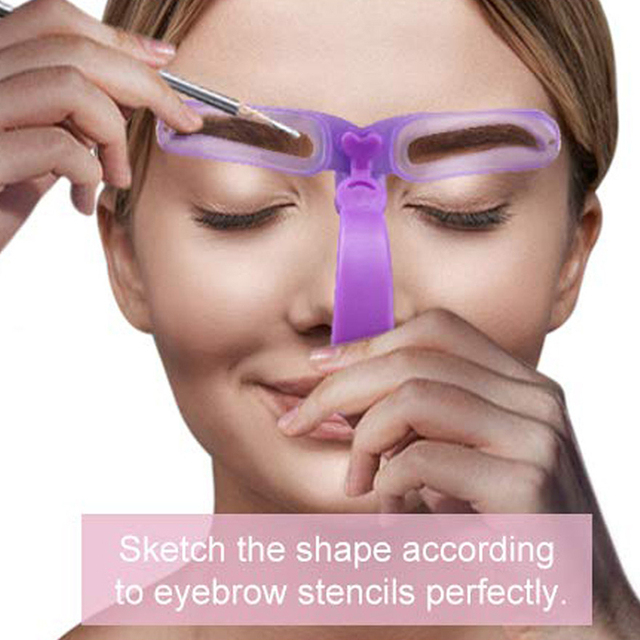 Reusable 8 In 1 Eyebrow Shaping Template Helper Eyebrow Stencils Kit Grooming Card Eyebrow Defining 2