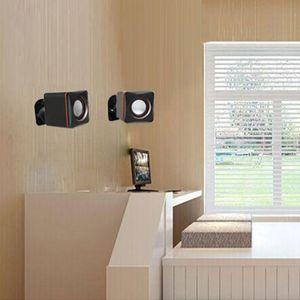 Image 3 - قوس تثبيت على الحائط لمكبر صوت الأقمار الصناعية ، مشبك مع دوران قابل للتعديل وزاوية إمالة لمكبرات صوت Sony
