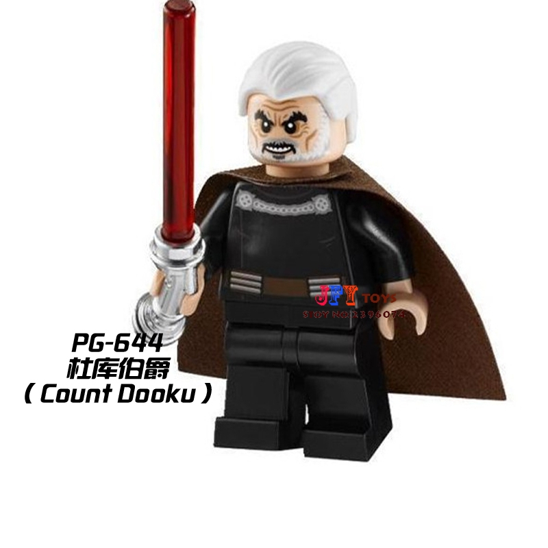 Single Sale Superhero Count Dooku Collection Building Blocks Model Bricks Toys For Children Action Figures