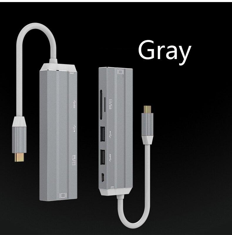 H4d22848db1744d7db540c2262e4115432 AIXXCO USB C HUB USB-C to 3.0 HUB HDMI Thunderbolt 3 Adapter for MacBook Samsung Galaxy S9 Huawei P20 Mate 20 Pro Type C USB HUB