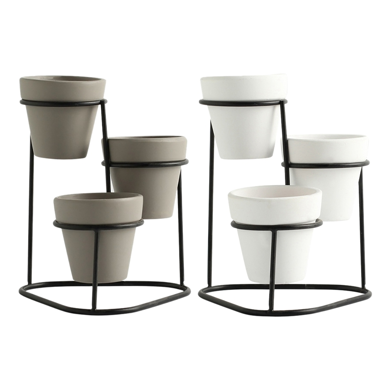 Plant Display Stands Flower-Pots Garden Nordic-Style Indoor Mini Modern Home Simple High-Quality