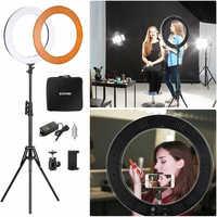 ZOMEI 14 Dimmable LED Studio Ring luz con trípode iluminación fotográfica anillo luz lámpara para maquillaje Selfie Youtube Video Live