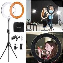 """ZOMEI 14 """"LED สตูดิโอแหวนขาตั้งกล้องถ่ายภาพแสงแหวนโคมไฟสำหรับแต่งหน้า Selfie วิดีโอ YouTube live"""