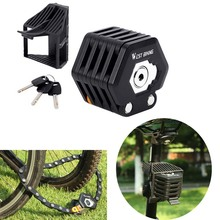 Anti-Theft Bike Folding Lock Foldable Bicycle MTB Mountain RodeBicycle Chain with Storage Mounting Bracket Accessories