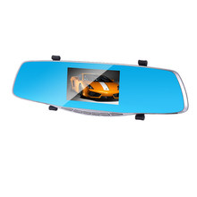 Car Dvr Camera Full Hd 1080P 4.3 Inch Rearview Mirror Dual Lens Video Recorder Auto Registrator Camcorder Car Dash Cam(China)