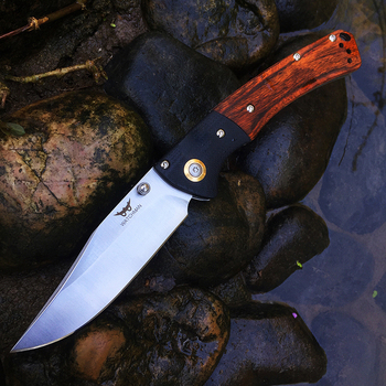 Tactical  Knife  Wood Handle Folding knife Survival Camping tool Hunting Pocket Knife tactical edc outdoor tool pocket folding knife multitool outdoor edc tools mini hunting knife stainless steel survival tactical keychain knife camping