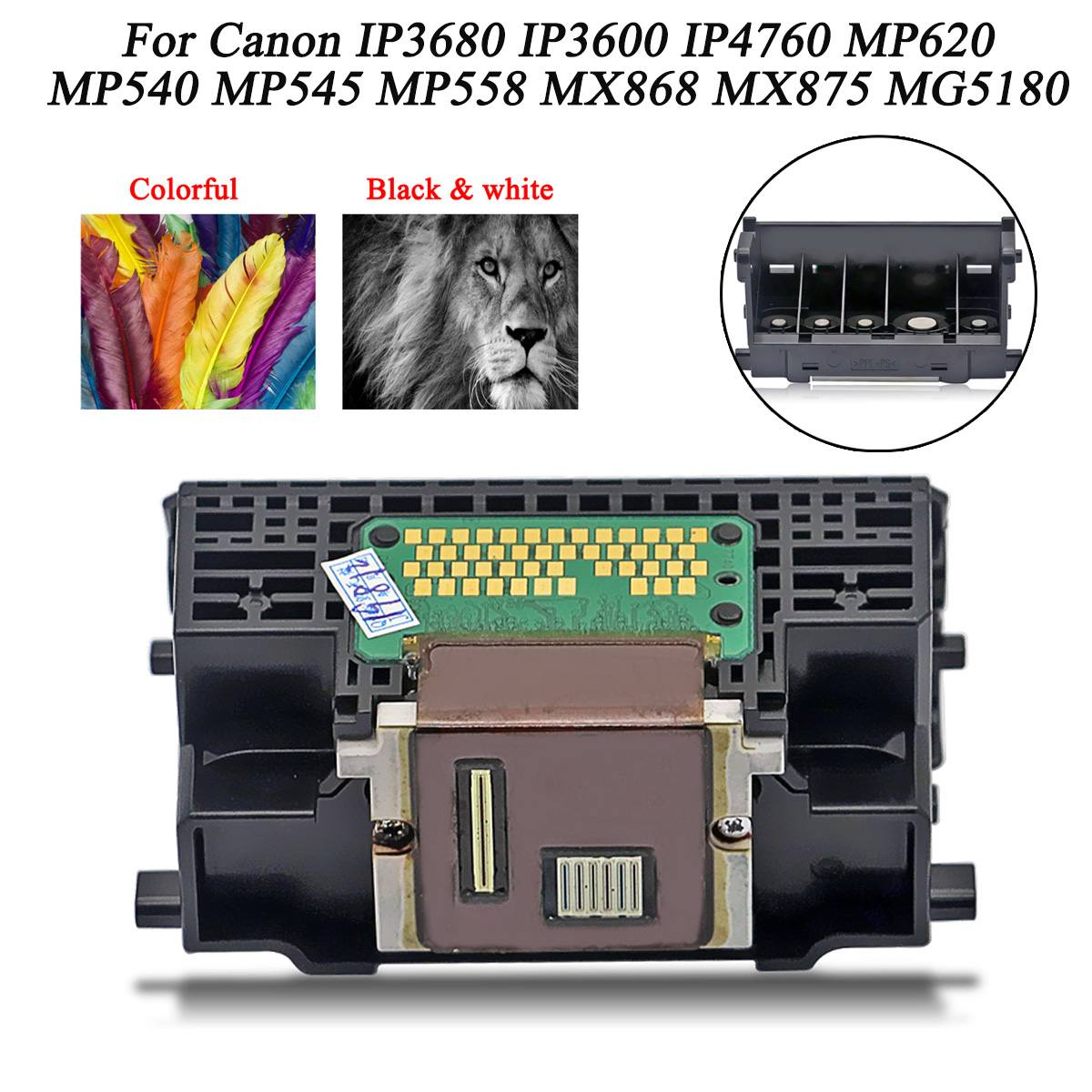 LEORY Printhead QY6-0073 Printer Head Print Head Printer Parts Accessories For Canon IP3600 IP3600 MP540 MP558 MX875 MX868 MG518