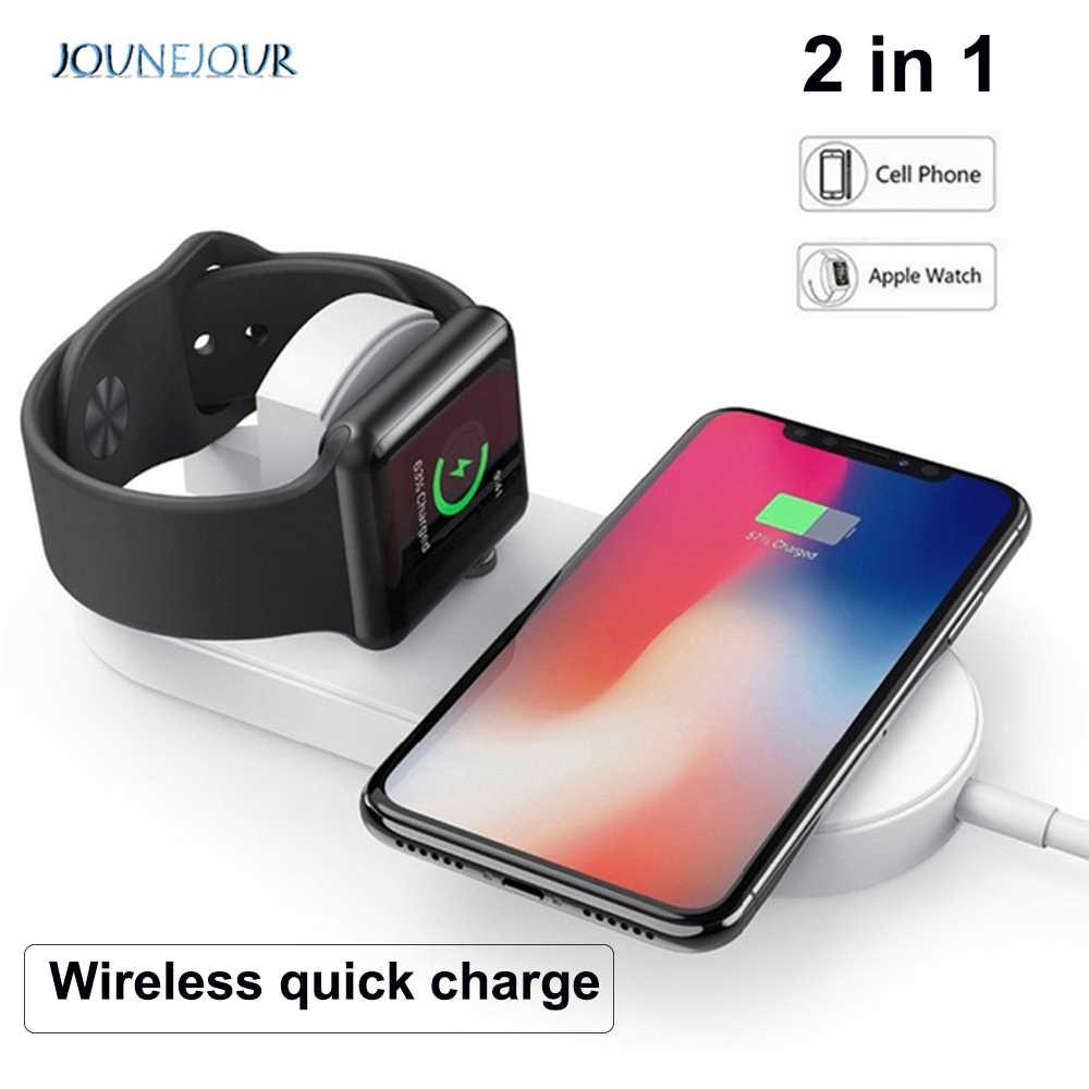 10W Qi WIRELESS CHARGER 2 Di 1 untuk Apple Watch Magnetic Charger untuk Xiaomi Menonton Charger Dock Station