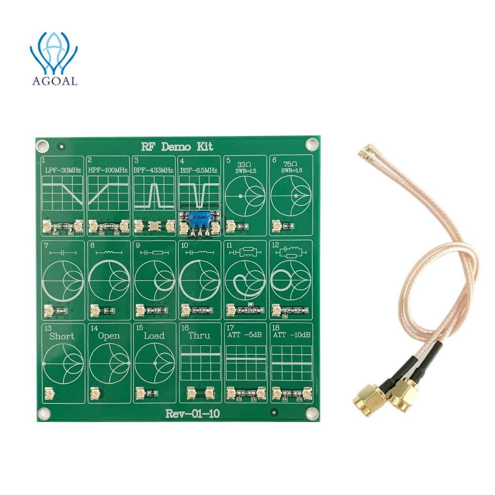 Радиочастотный демо-набор, нано-тестер, RF тестер, плата, фильтр, аттенюатор, печатная плата, тестер, Векторный сетевой анализатор, обучающий ...