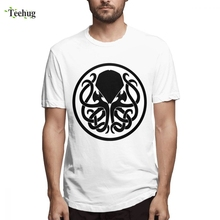 Hot Sale Male Cthulhu T-shirt Geek Unique Design Quality Cotton For Tees