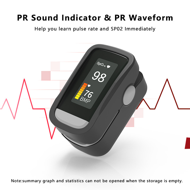 Blood Oxygen Monitor Finger Pulse Oximeter Oxygen Saturation Monitor Fast Shipping Within 24hours (without Battery)