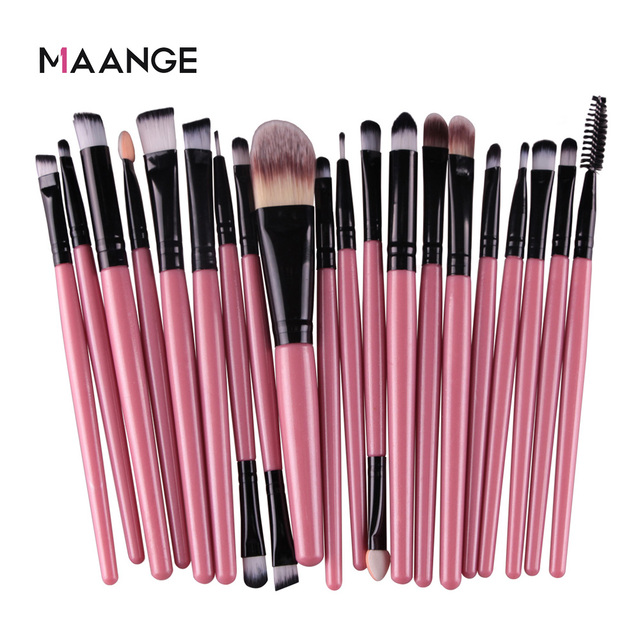 MAANGE 6/15/20 Pcs Makeup Brush Set Eyeshadow Blending Foundation Powder Eyebrow Blush Double Head Brush Beauty Make Up Kit Tool 2