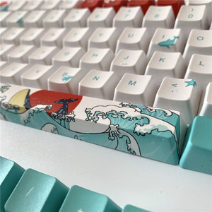 Image 5 - 108 Key Japan Japanese root font Keycaps Dye Sublimation PBT OEM Coral Sea keycap For Ikbc Cherry MX Annie Mechanical Keyboard