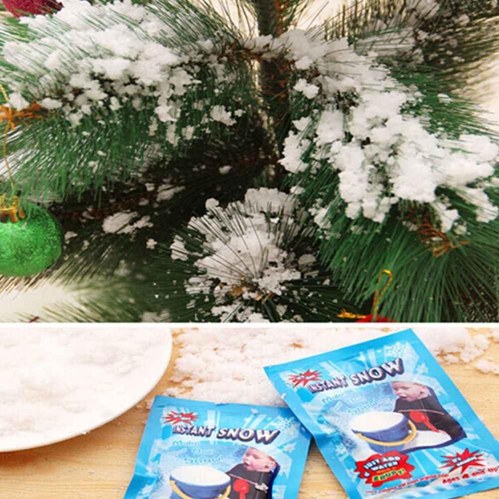 1 Packหิมะหิมะประดิษฐ์แป้งเกล็ดหิมะเด็กตกแต่งห้องแช่แข็งMagic Prop Christmas Party Decor O