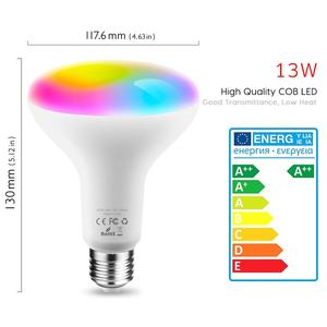 Image 2 - Tuya חכם אור הנורה E26 E27 Wifi Led אור RGB צבעוני Dimmable הנורה 220V 13W השכמה אור חכם הנורה מנורת Alexa חכם חיים