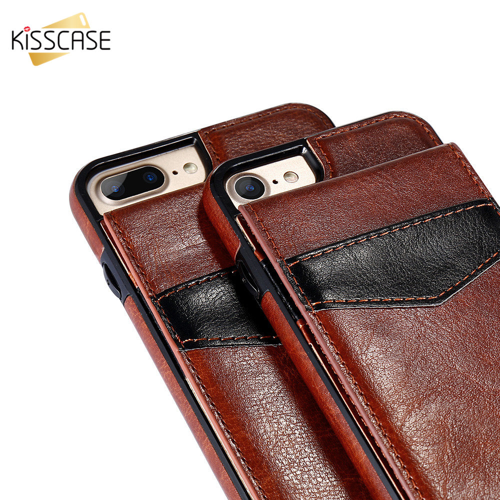 H4d23159c3c04408fbbe5d2603fc514e1e KISSCASE Vertical Flip Card Holder Leather Case For iPhone 6s Cover For iPhone 7 Wallet Case 8 XR 11PRO MAX 11 чехол на айфон 6s