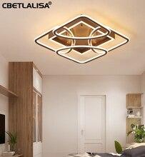 60%. modern led chandelier lustre for living room, bedroom, study, home, AC85-265V Square chandelier chandelier luminaire цены онлайн