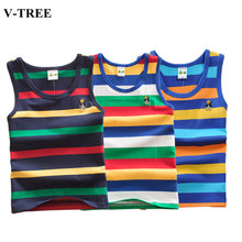 2020 Summer Tank Top For Girls Striped Children Undershirt Cotton Kids Underwear Model Teenager Camisole Baby Singlets Clothing cheap V-TREE unisex CN(Origin) 0-6m 13-24m 4-6y 12+y 7-12y 25-36m 7-12m Camisoles Tanks Fits true to size take your normal size