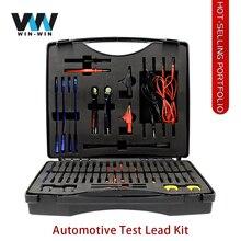 Kit complet de test de plomb automobile, testeur de Circuit pour sonde de puissance, Diagnostic de voiture automobile, câbles doutil Auto multifonctions