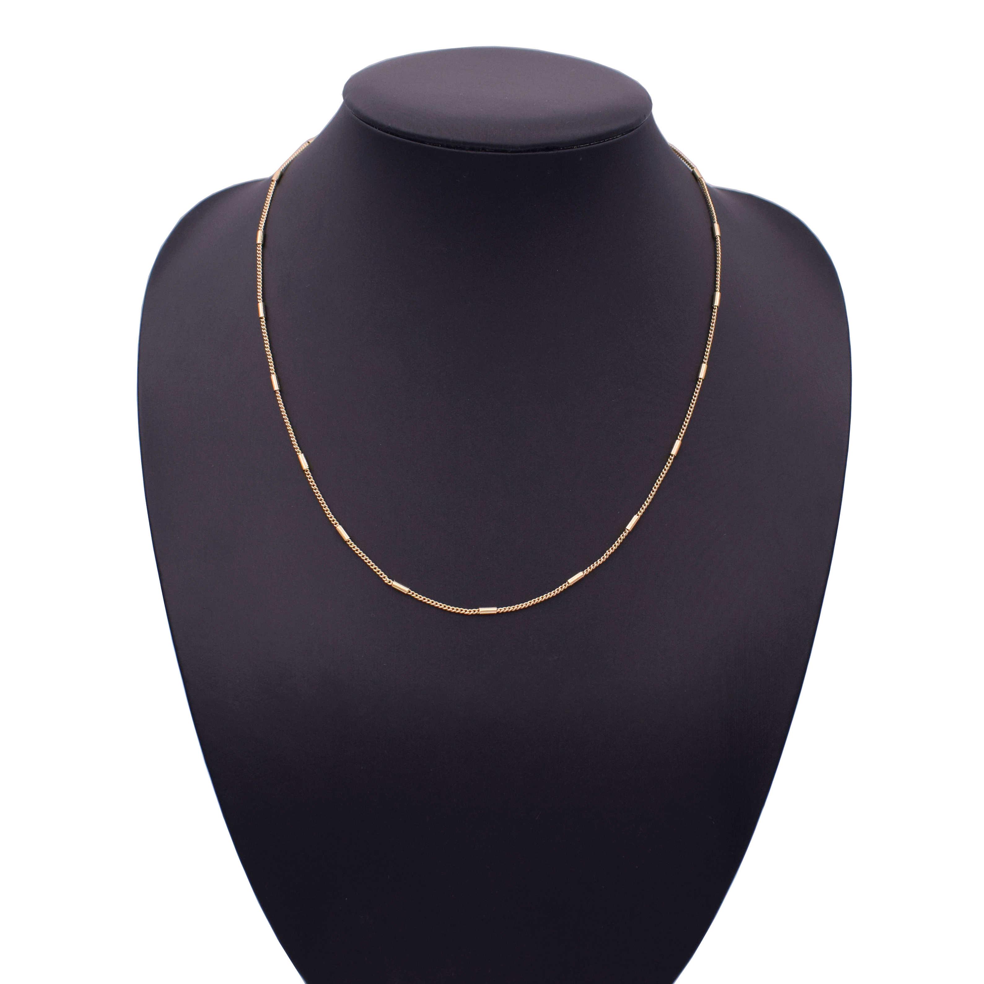 Próżni poszycia złota róża złoty wypełniony stałe naszyjnik łańcuchy Link mężczyźni łańcuch ze stali nierdzewnej mężczyzna kobieta akcesoria