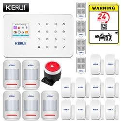 متخصصة KERUI G18 اللاسلكية الرئيسية GSM نظام إنذار أمان DIY كيت APP التحكم مع السيارات الهاتفي كاشف حركة الاستشعار ضد السرقة نظام إنذار