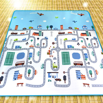Factory Direct Urban Traffic Baby Crawl Pad Picnic Mat Outdoor Land Mat Moisture-Proof Track Climbing Pad high quality multiplayerpvc aluminum film moisture pad 2 2m side tent moisture pad picnic mat sleeping pad
