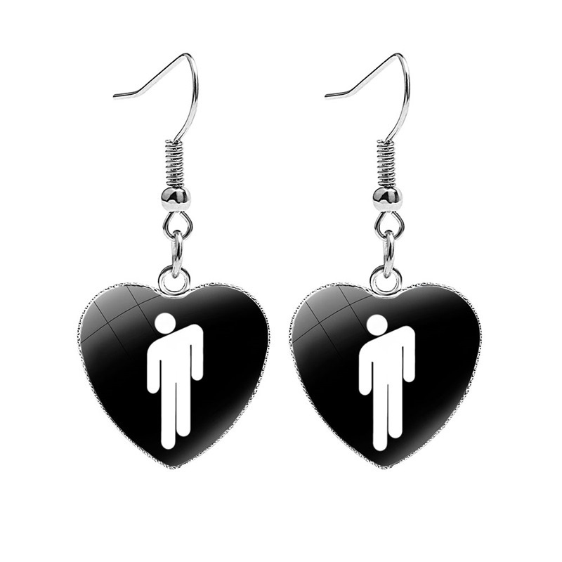 Billie Eilish Stud Earrings Party/'s Over Teen Music Steel Piercing Jewellery