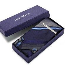 цена на 8cm Wide Tie Man Wedding Tie Paisley Jacquard  Men Tie, Handkerchief, Pin Cufflinks Gift Box Packaging