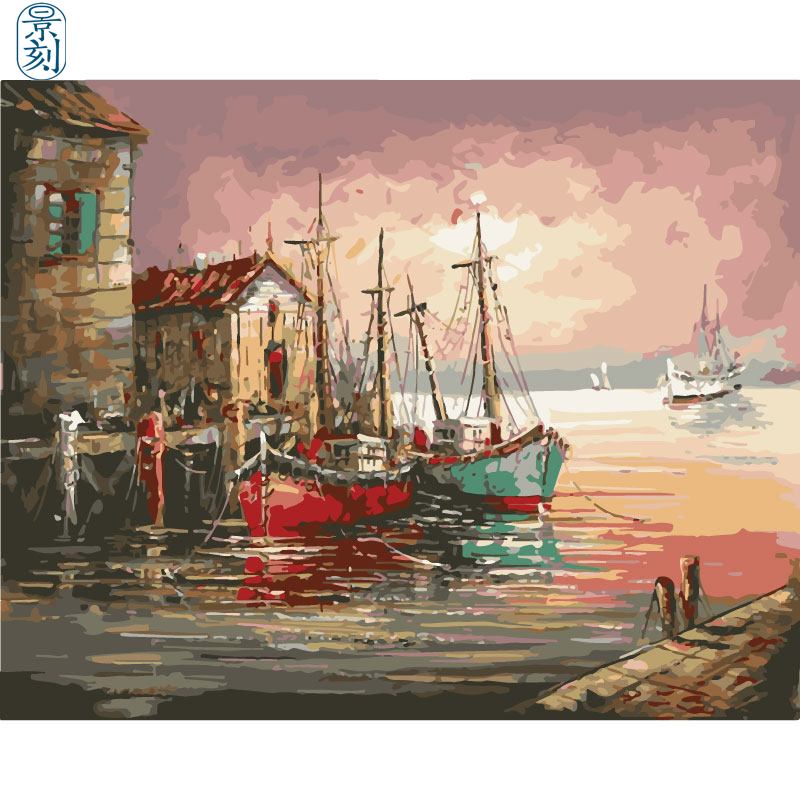 Seaview Series.Hand Made Paint High Quality Canvas Beautiful Painting By Numbers Surprise Gift Great Accomplishment