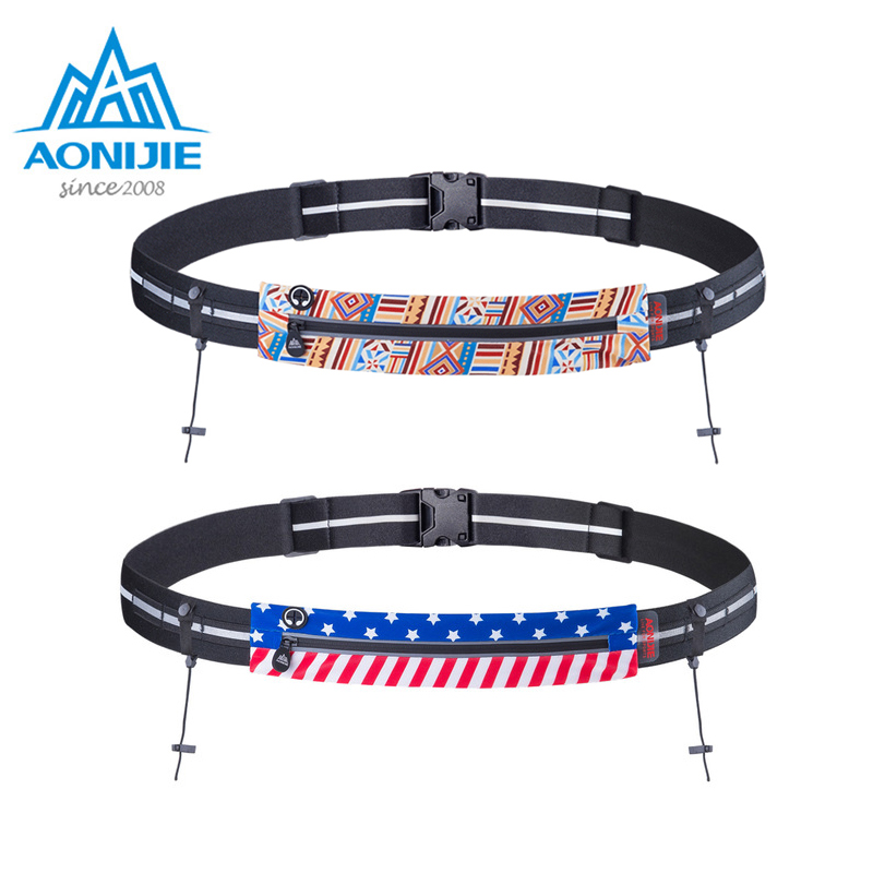 AONIJIE  Running Waist Bag Race Number Belt Phone Bib Holder Fanny Pack For Marathon Cycling Travel Fitness Gym