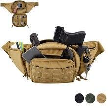 Tactical Waist Bag Multi-functional Fanny Pack Gun Holster Outdoor Sling Shoulder Chest Pack Military Magazine Gun Holder Bag