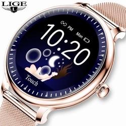 LIGE 2020 Новый смарт-часы для женщин физиологические сердечного ритма крови Давление мониторинга для Android IOS Водонепроницаемый дамы Smartwatch