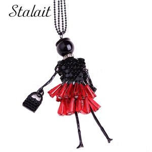 brand new enameled red dress  silver plated betty boop necklace