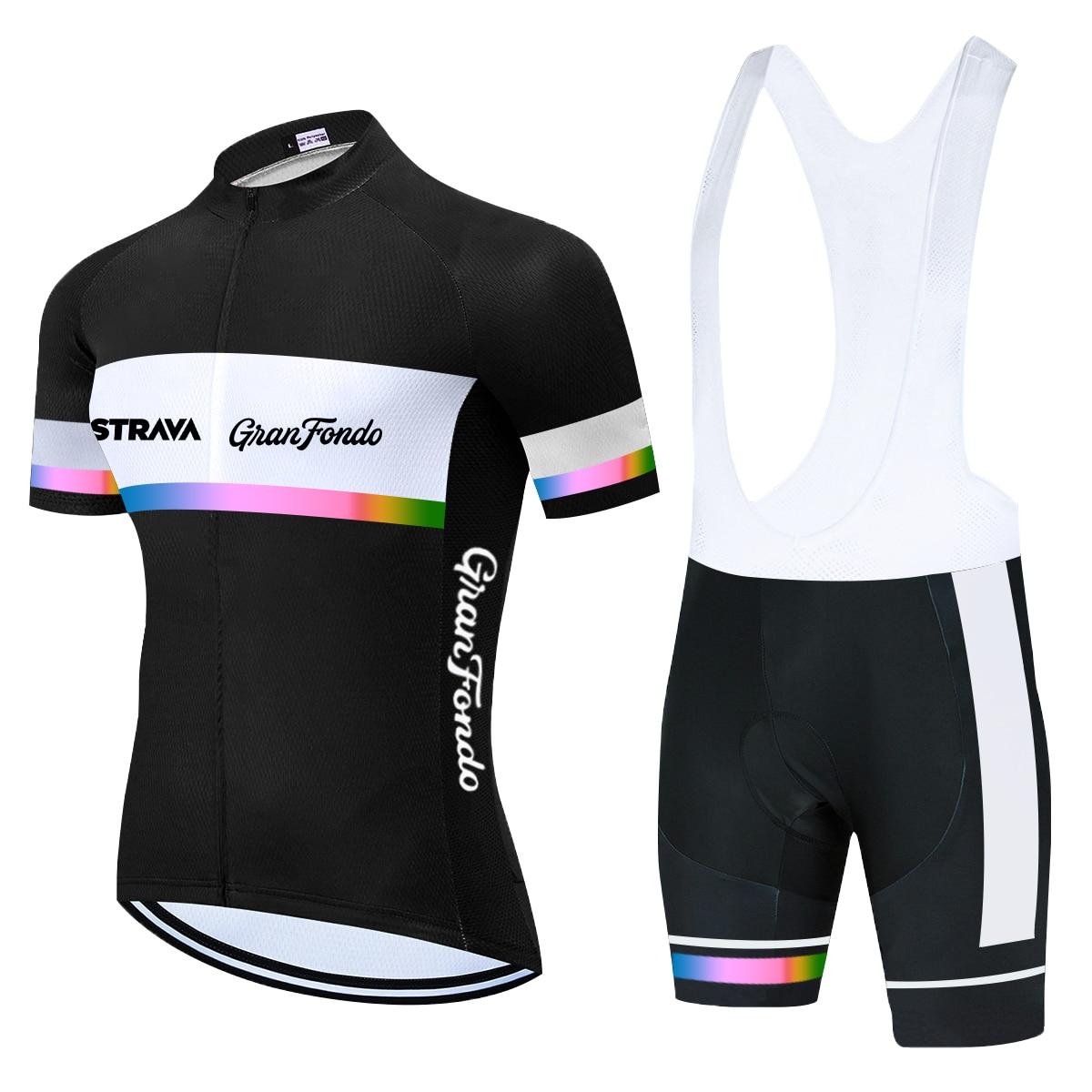 Трикотажный комплект для велоспорта STRAVA, дышащая одежда для велоспорта, одежда для велоспорта с коротким рукавом, 2021