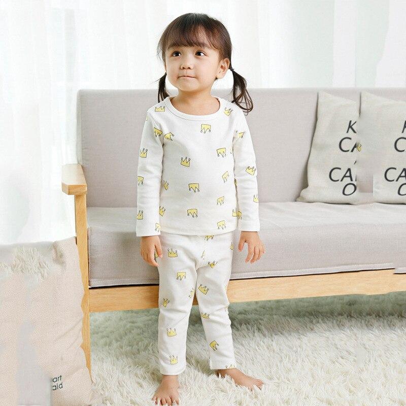 2019 Hot Selling Men And Women Baby Autumn Tracksuit Korean-style CHILDREN'S Cartoon Printed Pajamas Big Boy Underwear Suit