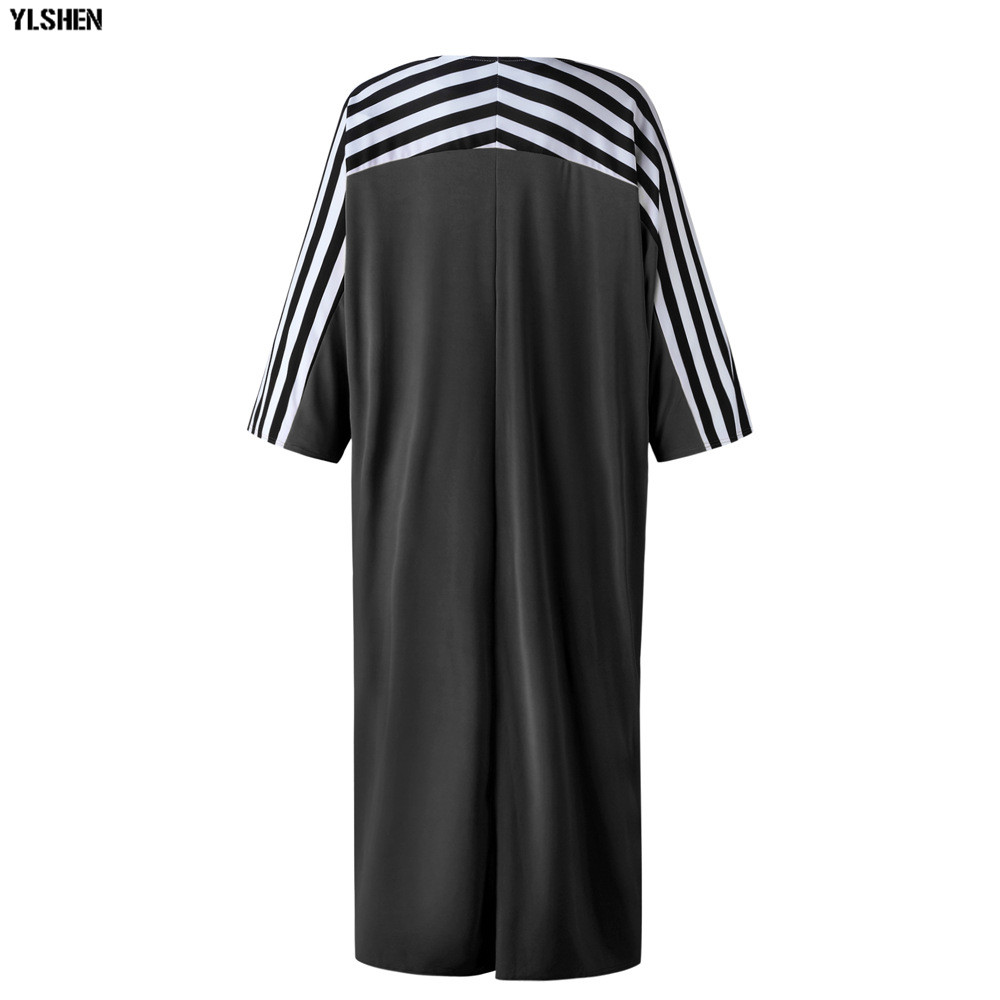 Super Size African Dresses for Women Dashiki Stripe African Clothes New Bazin Riche Sexy V-neck Long Africa Dress Woman Clothing 27