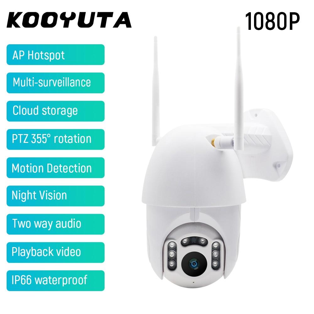 1080P HD PTZ Wifi Camera 2MP 355°Rotation Night Vision Multi-Surveillance AP Hotspot Two Way Audio Wireless Security Camera