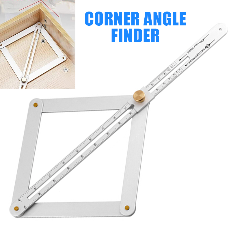 Stainless Steel Corner Angle Finder Ceiling Artifact Square Protractor Tool
